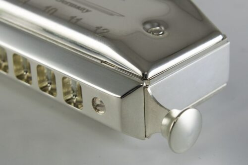 Hohner Silver Concerto Chromatic Harmonica Detail