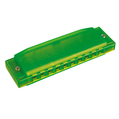Hohner See-thru happy harp green
