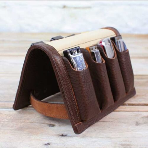 Pinegrove Leather Eight Pack Leather Harmonica Case
