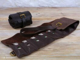 Pinegrove Leather Straight 8 Leather Harmonica Belt and Case