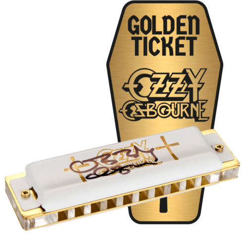 Ozzy Osborne Golden Ticket Harmonica